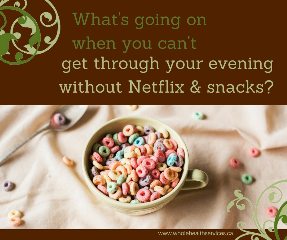 How to get through the evening without snacks