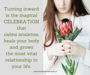 Turning inward is the magical celebration
